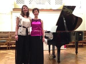 Dazzling Duet performers, Dr. Janet Fetterman and Elizabeth Mueller Grace