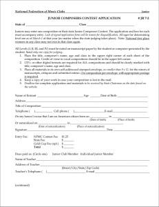 Junior Composer Contest Application